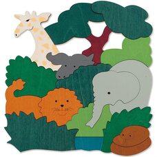 Мозаика «Африканские животные», двухслойная, 36 дет.