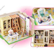 «Кабинет», дом конструктор с мебелью, 104 дет.