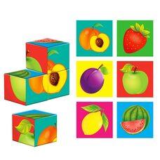 Кубики «Ягоды-фрукты», 4шт.
