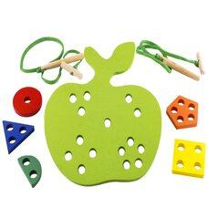 Шнуровка яблоко с гео-фигурами