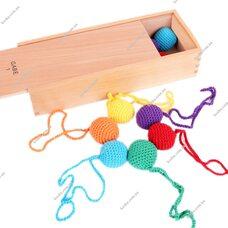 Игровой набор Дары Фребеля. Комплект 1 - Текстильные мячики.