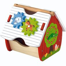 Домик-часы-сортер «Ферма»