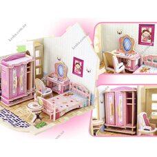 «Спальня», дом конструктор с мебелью, 70 дет.