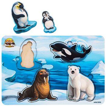 2-х слойный вкладыш «Мама и малыш» (животные Арктики)