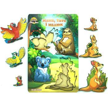 3-х слойный вкладыш «Мама, папа и малыш» (животные Австралии)