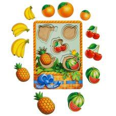 3-х слойные вкладыши «Фрукты-ягоды - 1» (больше-меньше)