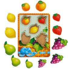 3-х слойные вкладыши «Фрукты-ягоды - 2» (больше-меньше)