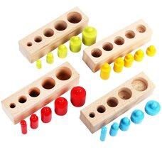 Блоки с цилиндрами-вкладышами (маленькие), цветные