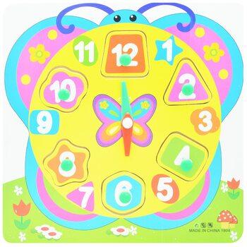 Часы-вкладыши «Бабочка-Цифры»