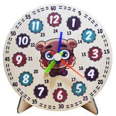 Часы- вкладыши «Мишка», 20 см.