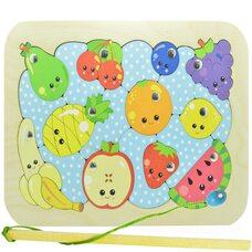 «Фрукты-ягоды», мозаика + рыбалка, 20 дет. (blue)