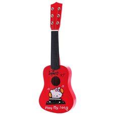 Гитара 6 струн «Kitty». Малиновая.