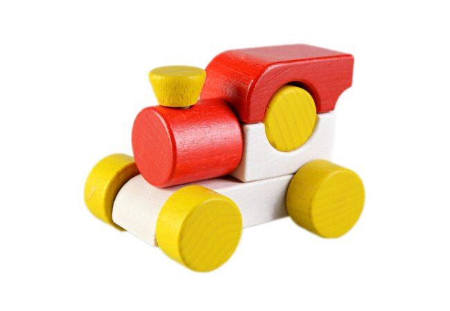 Каталка-паровоз (красная)