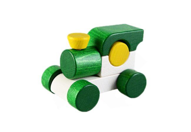 Каталка-паровоз (зелёная)