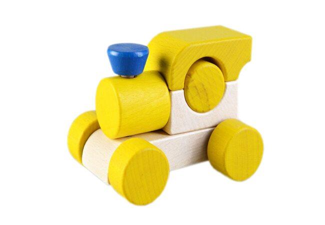 Каталка-паровоз (жёлтая)