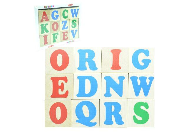 Кубики. Английский алфавит 12 кубиков