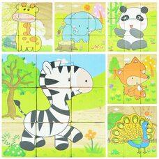 Кубики «Животные №1», 9 шт.