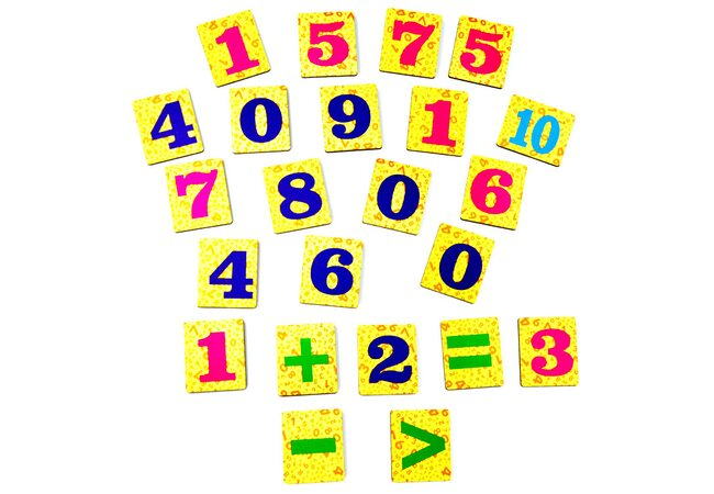 Магнитный набор «Цифры». Цветной.