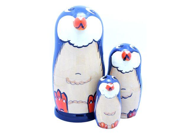 Матрешка «Пингвинчики», 3 в 1