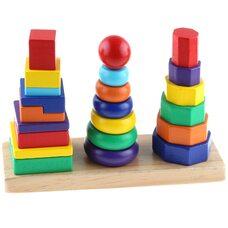 Набор пирамидок от простого к сложному