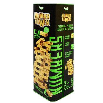 Настольная игра «Number Tower» в тубе, 54 дет.