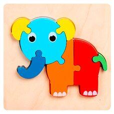 Объемный мини-пазл «Слоненок», 7 дет.