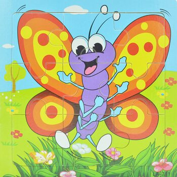 Пазл «Бабочка разноцветная», 9 дет.