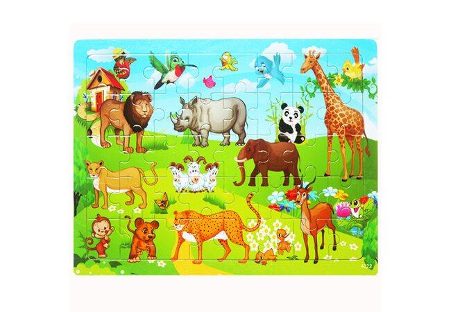 Пазл «Экзотические животные», 40 дет.