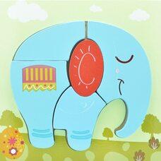 Вкладыш-пазл объемный «Голубой слон», 4 дет.