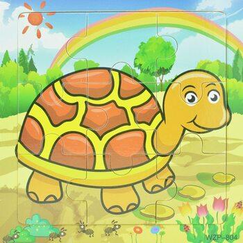 Пазл «Коричневая черепаха», 9 дет.