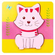 Вкладыш-пазл объемный «Кошечка», 4 дет.