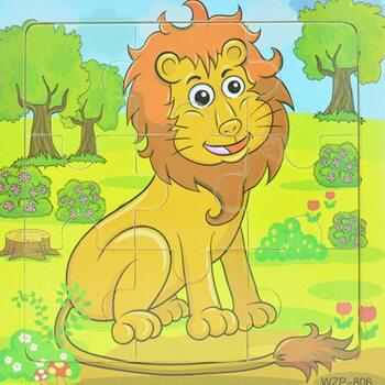 Пазл «Могучий лев», 9 дет.