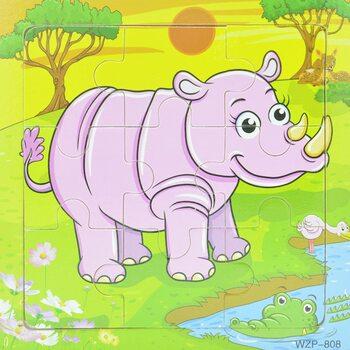 Пазл «Носорог», 9 дет.