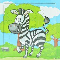 Пазл «Полосатая зебра», 9 дет.