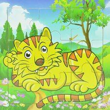 Пазл «Полосатый тигр», 9 дет.