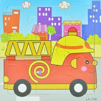 Пазл «Пожарный автомобиль», 9 дет.