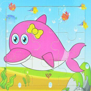 Пазл «Розовый дельфин», 9 дет.