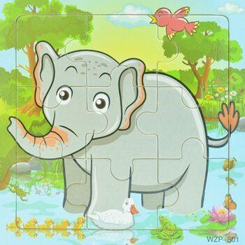 Пазл «Серый слон», 9 дет.