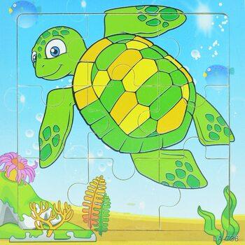 Пазл «Зеленая черепаха», 9 дет.
