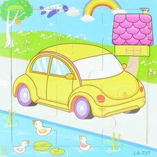 Пазл «Жёлтый автомобиль», 9 дет.