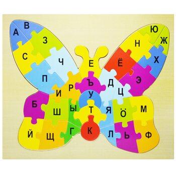 Пазл с алфавитом «Бабочка», 33 дет. (рус)