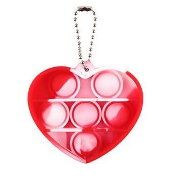 Pop it «Брелок Сердце» (красно-белое)