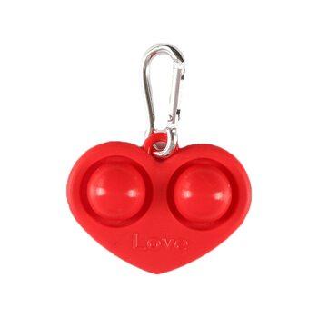 Pop it «Брелок Сердце» (красное)