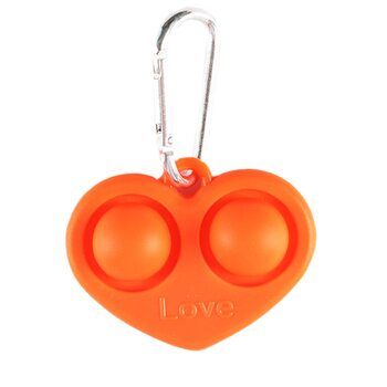 Pop it «Брелок Сердце» (оранжевое)