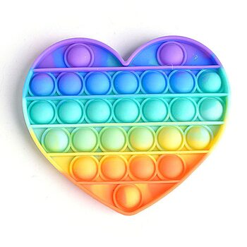 Pop it «Радужное сердце»