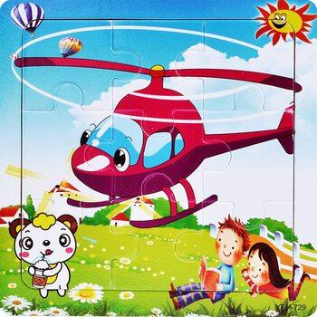 Пазл «Вертолёт-вертолетный», 9 дет.