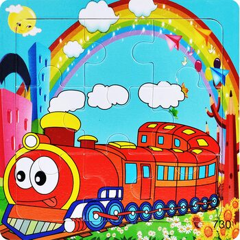 Пазл «Скорый поезд», 9 дет.