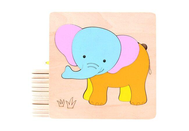 Пазл «Слоненок» 6 дет.