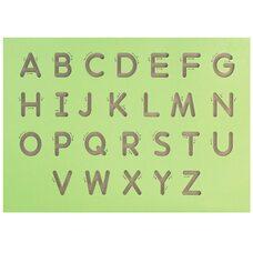 Трафарет для написания заглавных букв (англ. алфавит)