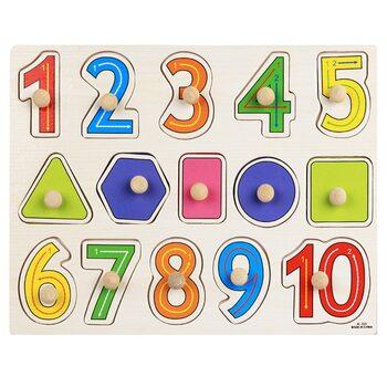 Вкладыши «Цифры-фигуры от 1 до 10»